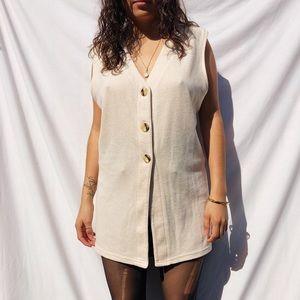 Minimalist vintage vest